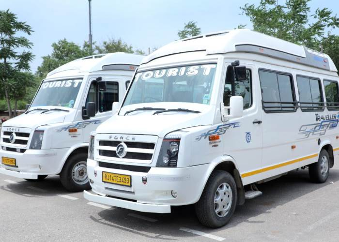 2 tempo traveller in white color