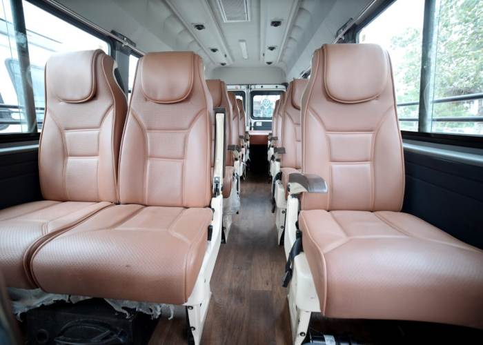 tempo traveller inside Photo