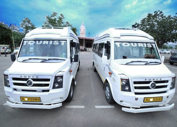 tempo traveller front side