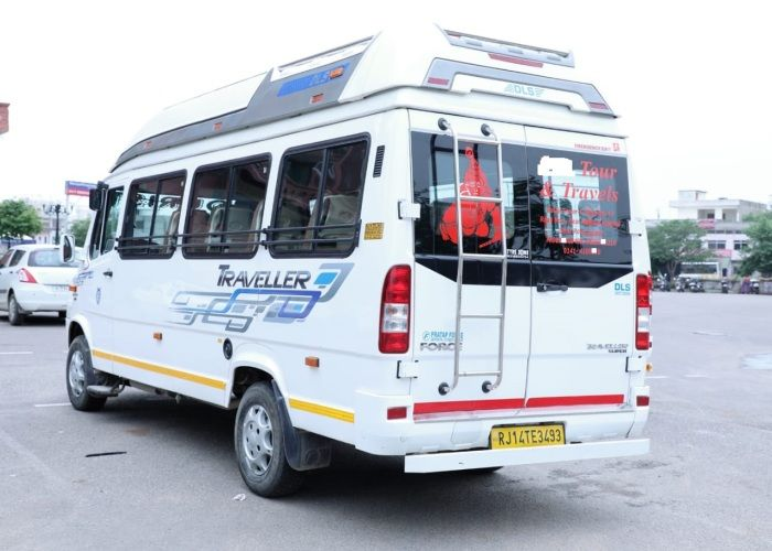 tempo traveller back and left side