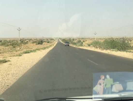 Sam taxi trip on road